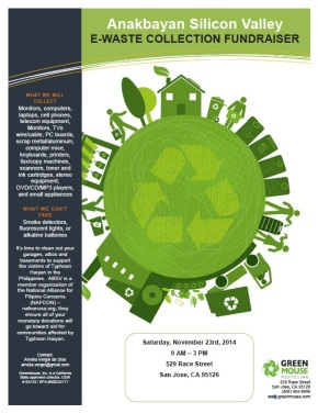 11/23: E-Waste Drive for Typhoon Relief