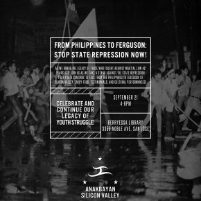 9/21: From Philippines to Ferguson — A Martial Law CommemorationEvent